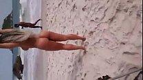 Mulher Melão na Praia de Abricó sem Tarja