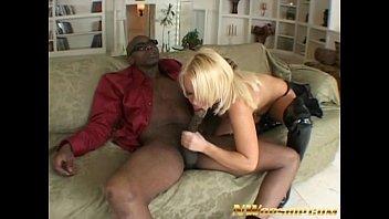 platinum blonde interracial sex with a big black dick