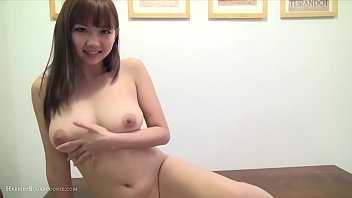 Busty, hot Japanese girl in playsuit & toys