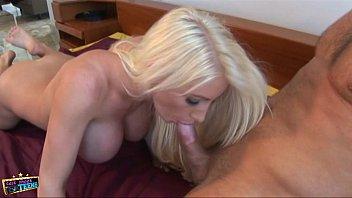 Blonde slut gets fucked hard