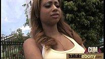 Interracial bukkake sex with black porn star 3