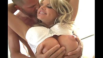 Blonde MILF with huge tits gets fucked