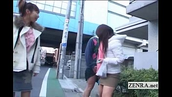 Subtitled crazy public Japanese crossdressing femdom