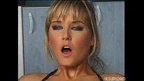 Nikki Montana babe fucks in fishnets and heels