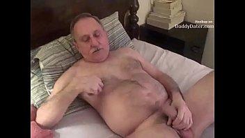 Hairy Hung Silverdaddy Grandpa Sucking my Uncut Cock