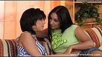 Strapon Lesbian Teens and GMILF Blowjob!