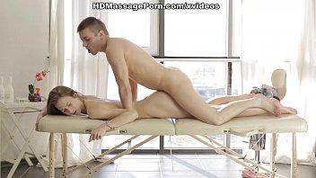 Blonde's adventure in a private massage studio scene 1
