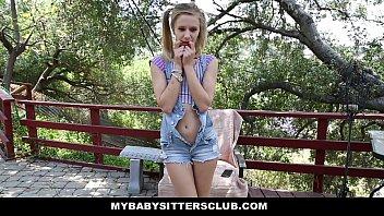 Myb.SittersClub - Petite b. Sitter (Rachel James) Caught Masturbating