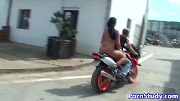 Nudist eurobabe teased by mechanics