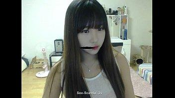 Pretty korean girl recording on camera 4