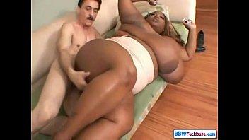 Skinny Grandpa with Nasty BBW Ebony