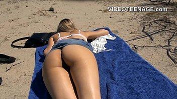 naked teen at beach