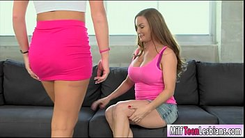 Diamond Foxx lesbian sex with Keely Jones on the couch
