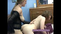 Teen Veronica takes a strapon from a busty slut
