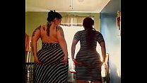datbitchnamedjuicy and cousin twerking in sundress
