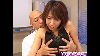 Jun Kusanagi Asian maid gets anal fingering before sucking cock and fucking