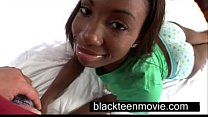Cute ebony teen with a nice butt in hardcore black sex video