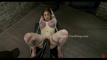 Redhead sex slave in a cell humiliation (Stop jerking off! Visit RealOne24.com)