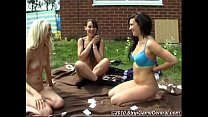 Bex, Charlotte & Debz play Strip Obey