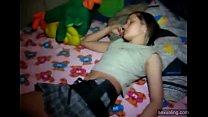 Teen having fun at a party