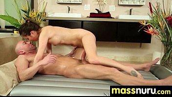 slippery nuru massage for lucky dude 10