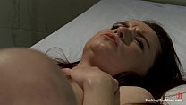 Orgasm with fucking machine