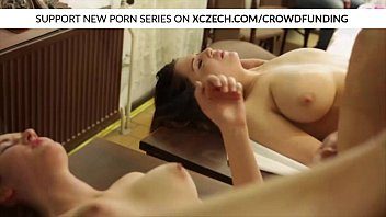 Orgy with titty chubby girls fucking with big cocks