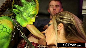 FFM Threesome With Horny Alien Chick - Eva Parcker, Tiffany Doll