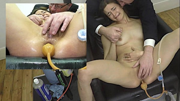 Miss April's Painful Enema With Soap And The Bardex 6 min
