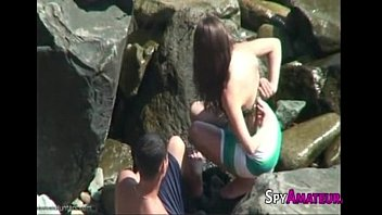 Real amateur couple having sex on the beach on SpyAmateur.com