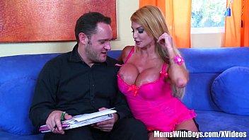 Busty Blonde MILF Mandy Bright Double Penetration