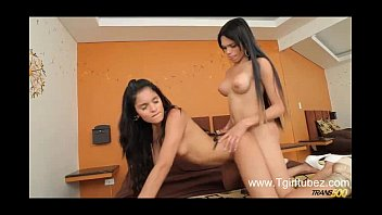 Two Young Beautiful Shemales Suck and Fuck Each Other www.Tgirltubez.com