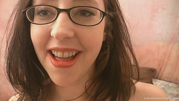 Nerdy amateur brunette gets down and dirty 12 min