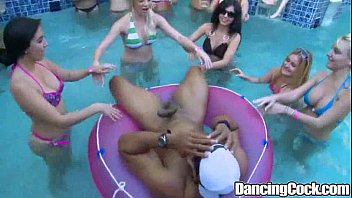 Dancingcock Poolside Orgy