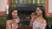 Nikki Rider and Eve Angel engage in some hot lesbian sex