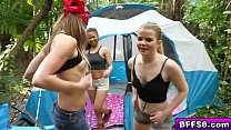 Fine young teens butt naked camp out hungry for a big cock