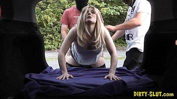 Slutwife Nikki gang fucked by many strangers