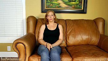 Mom on casting couch masturbating then giving a blowjob