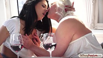 Coco Demal gets pussy eaten by granny after she licked hers