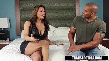 Trans Erotica - Jessy Dubai Takes the Black Dick