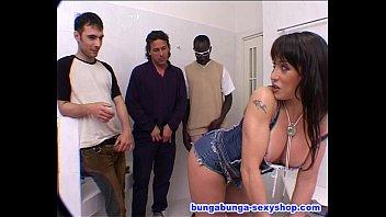 Three big cock for one bitch: Sheila Stone