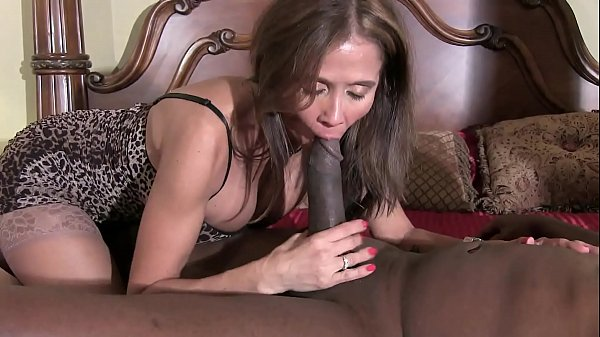 HotWifeRio horny brunette wife gives black guy a nice slow blowjob 3 min