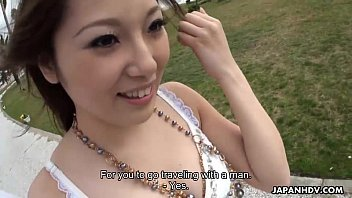 Asian slut getting a fat dick to suck on real hard