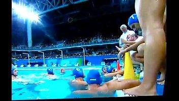 Bulge do pólo aquático Brasil x Hungria