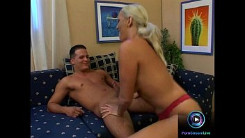 Exotic blonde beauty fucked hard and facialized
