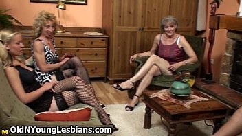 Two horny mature wifes seducing a cute