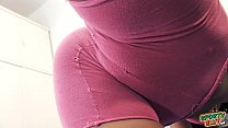 Cameltoe Busty Teen Has Round Ass In Tight Shorts