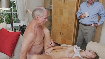 Blonde Teen With Terrific Tits Banged By Dirty Old Dude