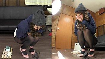 Subtitled amateur Japanese pee desperation failure in HD 5 min