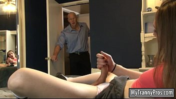 Sexy brunette shemale Jacqueline Woods gets her ass banged